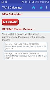 Marriage Taas Calculator
