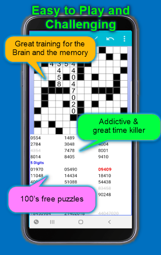 Number Fill in puzzles - Numerix, numeric puzzles screenshots 3