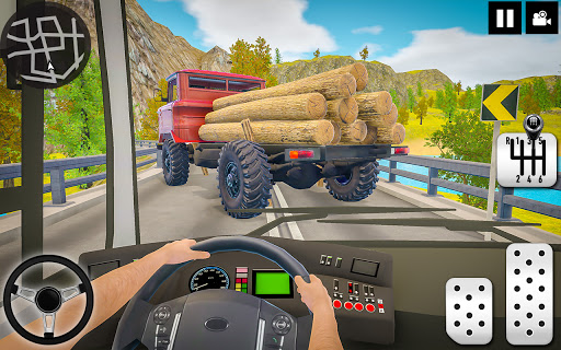 Log Transporter Truck Driving : Truck Games 2021 screenshots 1