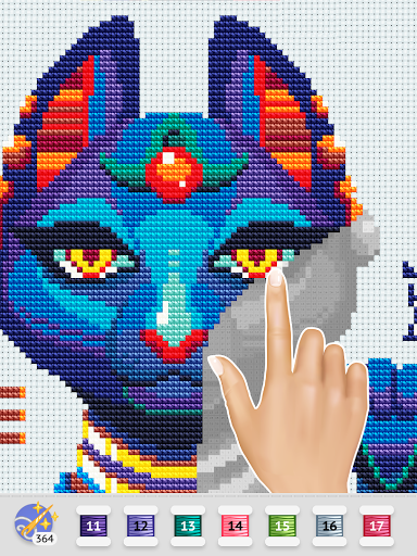 Cross Stitch Club u2014 Color by Numbers with a Hoop 1.4.32 screenshots 9