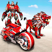 Real Lion Transform Robot Hero: Robot Games