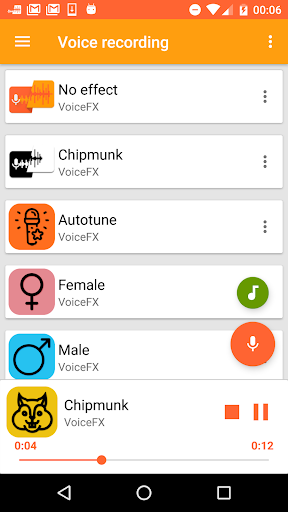 VoiceFX - Voice Changer with voice effects 1.1.8b-google screenshots 1
