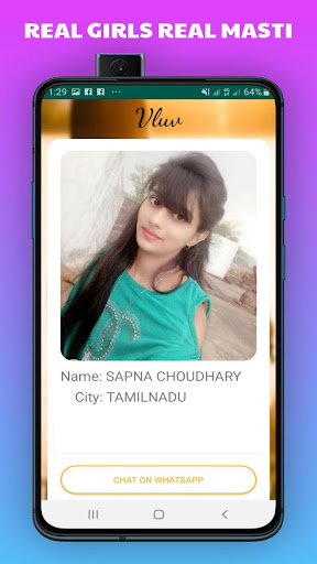 Vluv -Indian Girls Mobile Number For Whatsapp Chat 1.0 Screenshots 3