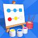 フリップ カラーリング - ハイパー カジュアル パズル ゲーム (オフライン)