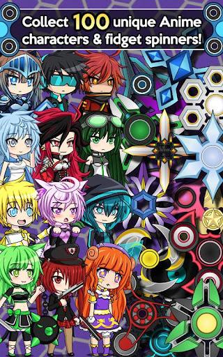 anime fidget spinner battle screenshot 1