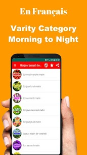 French Good Morning Afternoon & Good Night Wishes 9.10.00.2 Android Mod APK 2