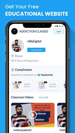 Teachmint - Free Live Teaching App, Teach Online android2mod screenshots 2