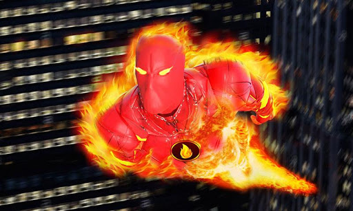 Flying Fire Hero Robot Transform: Robot Games  Screenshots 1