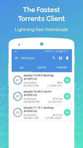 WeTorrent - Torrent Downloader 1.0.32 screenshots 1