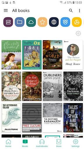 PocketBook reader free reading epub, pdf, cbr, fb2 screen 2