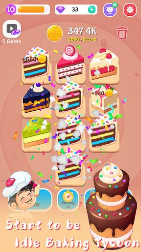 Merge Cake Mania - idle baking tycoon  screenshots 5