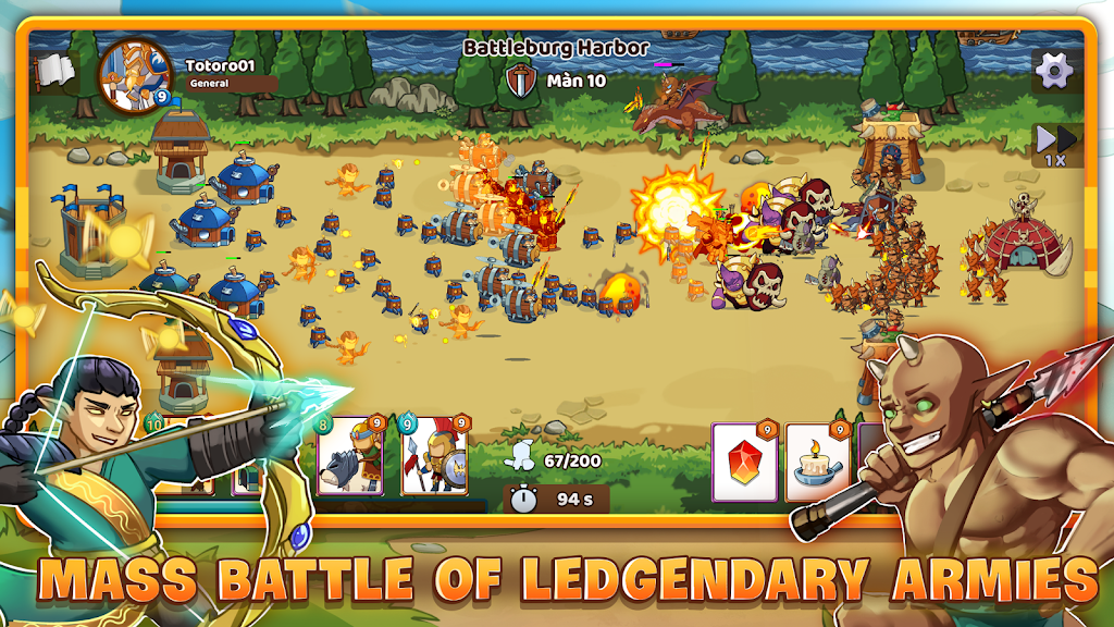 Mega War - Clash of Legions poster 1