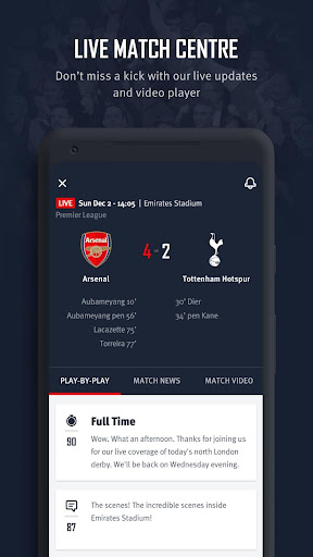 Arsenal Official App 6.0.3 Screenshots 3