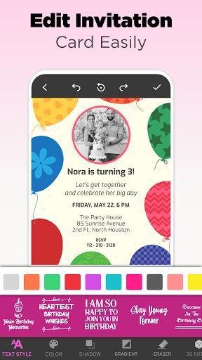 Invitation Maker Free - Birthday & Wedding Card apktram screenshots 13