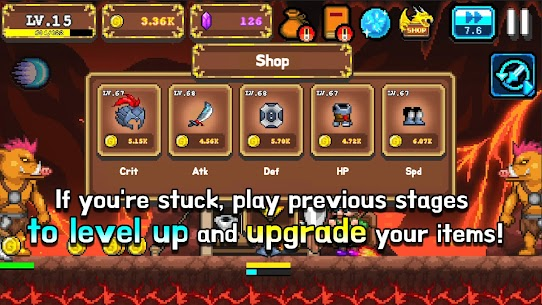 Tap Knight : Dragon's Attack Mod Apk 1.0.17 (Free Upgrade For Equipment) 5