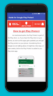 Guide for Google Play Protect Screenshot