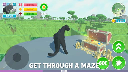 Télécharger Gratuit Panther Family Sim 3D: aventure dans la jungle mod apk screenshots 1
