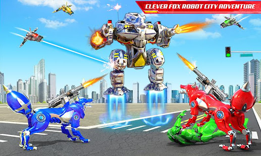 Wild Fox Transform Bike Robot Shooting: Robot Game 24 screenshots 6
