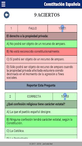 Tests oposiciu00f3n constituciu00f3n Espau00f1ola apktram screenshots 7