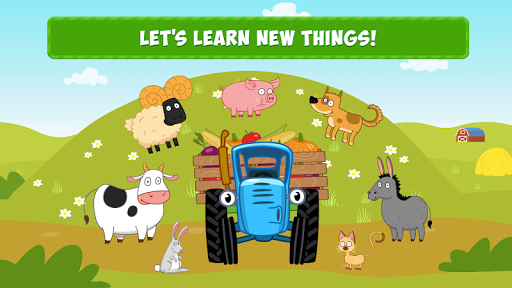 Blue Tractor Games for Toddlers 2 Years Old! Pre K apkmr screenshots 1