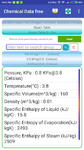 Chemistry,Engineering Data,units,calculations free Screenshot