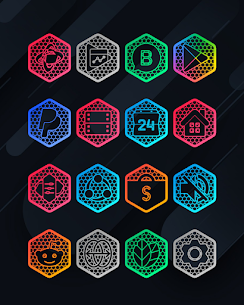 Hexanet APK- Neon Icon Pack [PAID] Download Latest Version 5
