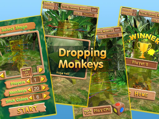 Dropping Monkeys 3D Board Game - Play Together.  screenshots 8