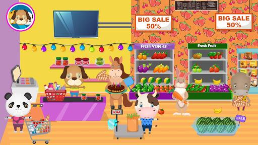 pretend pet supermarket: town animal mall shopping screenshot 1