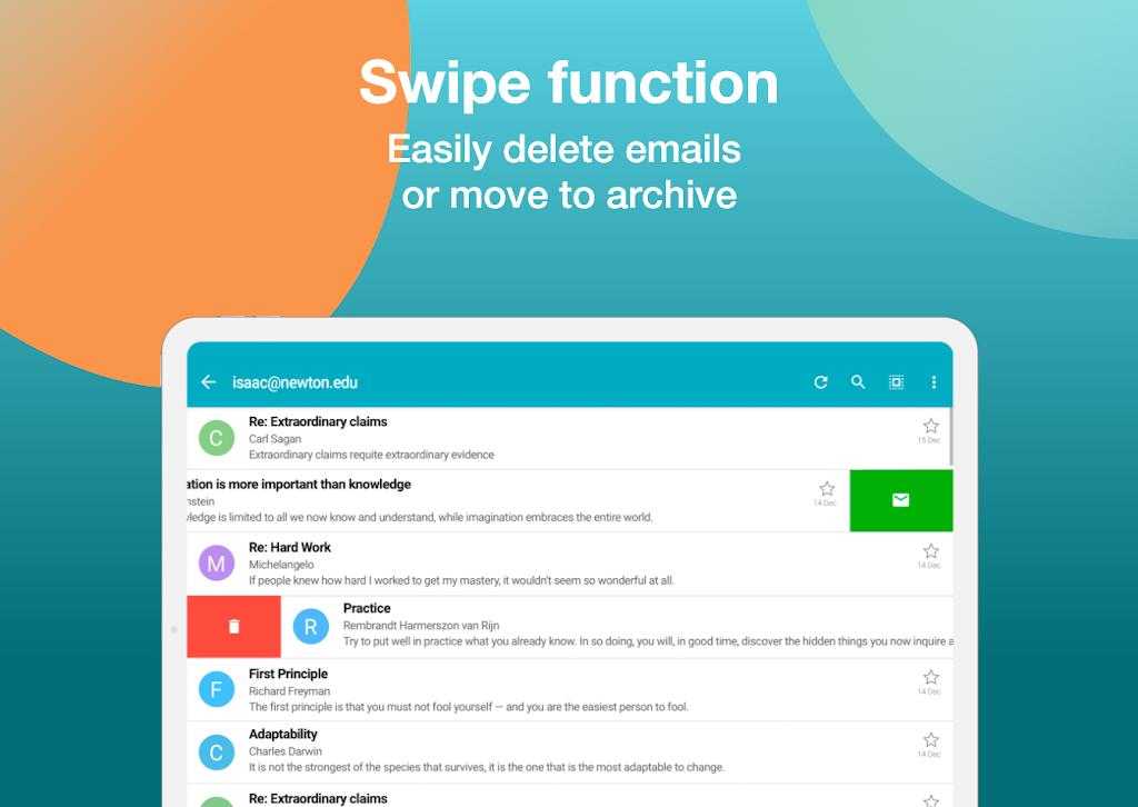 Email Aqua Mail - Exchange, SMIME, Smart inbox poster 22