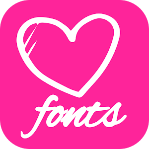 Love Fonts for FlipFont with Font Resize