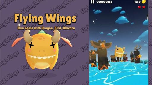 Flying Wings - Run Game with Dragon, Bird, Unicorn  screenshots 6