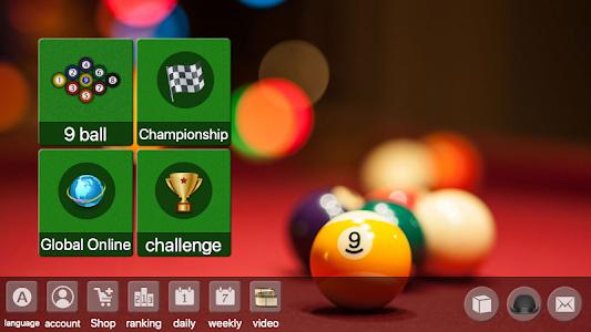 9 ball billiards Offline / Online pool free game 80.51