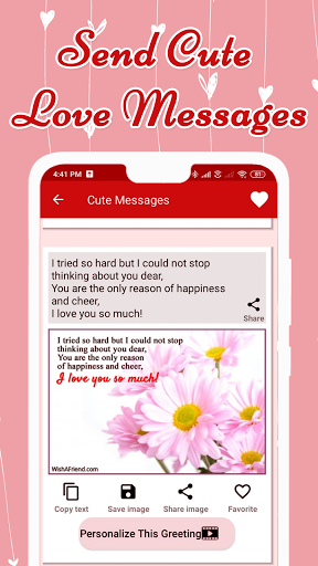 Code Triche Love Messages for Girlfriend ♥ Flirty Love Letters (Astuce) APK MOD screenshots 5