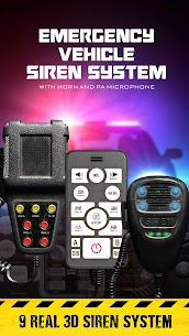 Siren sounds set: emergency siren vehicle system 4