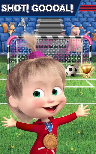 Masha and the Bear: Football Games for kids Apkfinish screenshots 11