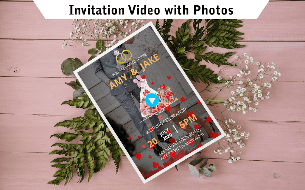 Wedding Card Design & Photo Video Maker With Music  poster 11