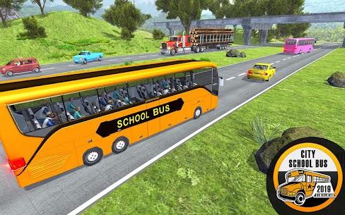 Free City School Bus Simulator 2019  Free driving 4