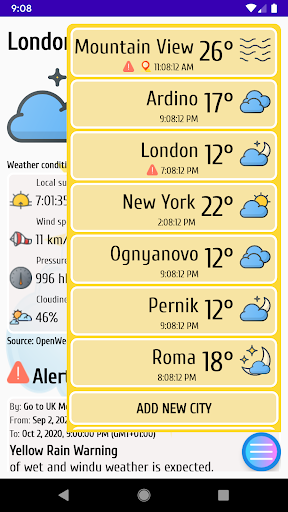 Weather Forecast and Air Quality with Widgets poster
