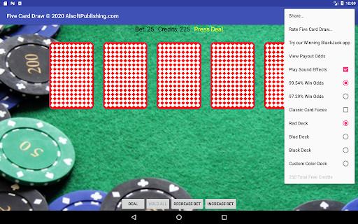 Five Card Draw Poker  screenshots 10