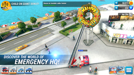 EMERGENCY HQ - firefighter rescue strategy game Mod Apk