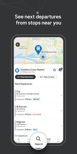 Public Transport Victoria app  Screenshots 4