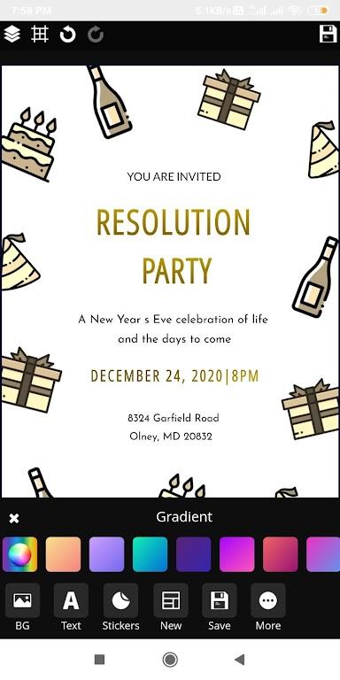 Invitation maker 2020 Birthday & Wedding card Free  poster 5