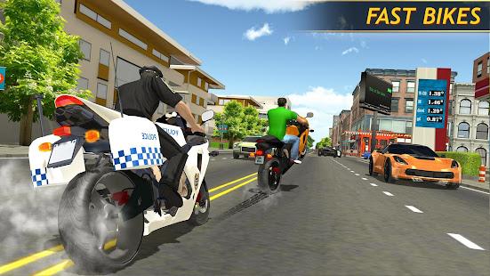 Police Bike Racing Free 2.0 screenshots 1