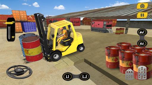 Real Forklift Simulator 2019: Cargo Forklift Games apktram screenshots 6