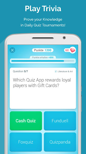 CASH QUIZZ REWARDS: Trivia Game, Free Gift Cards 3.2.18 screenshots 1