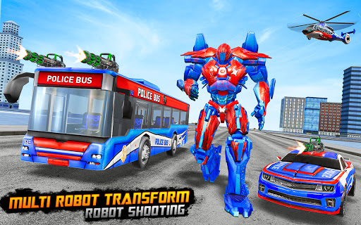 Bus Robot Car Transform War u2013Police Robot games 3.9 screenshots 8