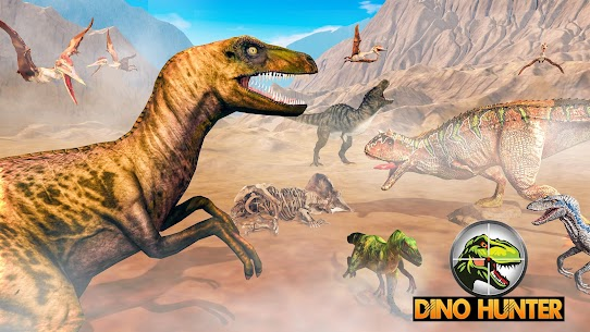 Dino Hunting Games 2021: Dinosaur Games Offline Mod Apk (God Mode) 5
