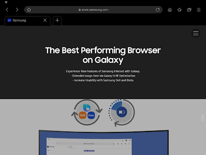 Samsung Internet Browser Beta Screenshot
