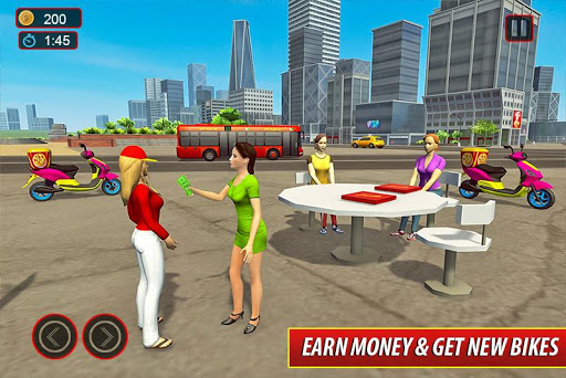 Moto Bike Pizza Delivery – Girl Food Game screenshots 2