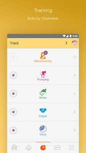 MyMedela Baby Tracker, Breastfeeding